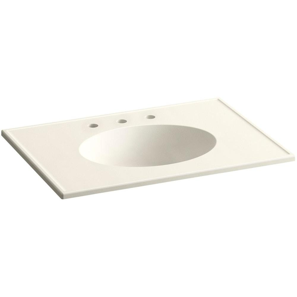 KOHLER Ceramic/Impressions 31 in. Vitreous China Vanity Top with Basin in Biscuit Impressions