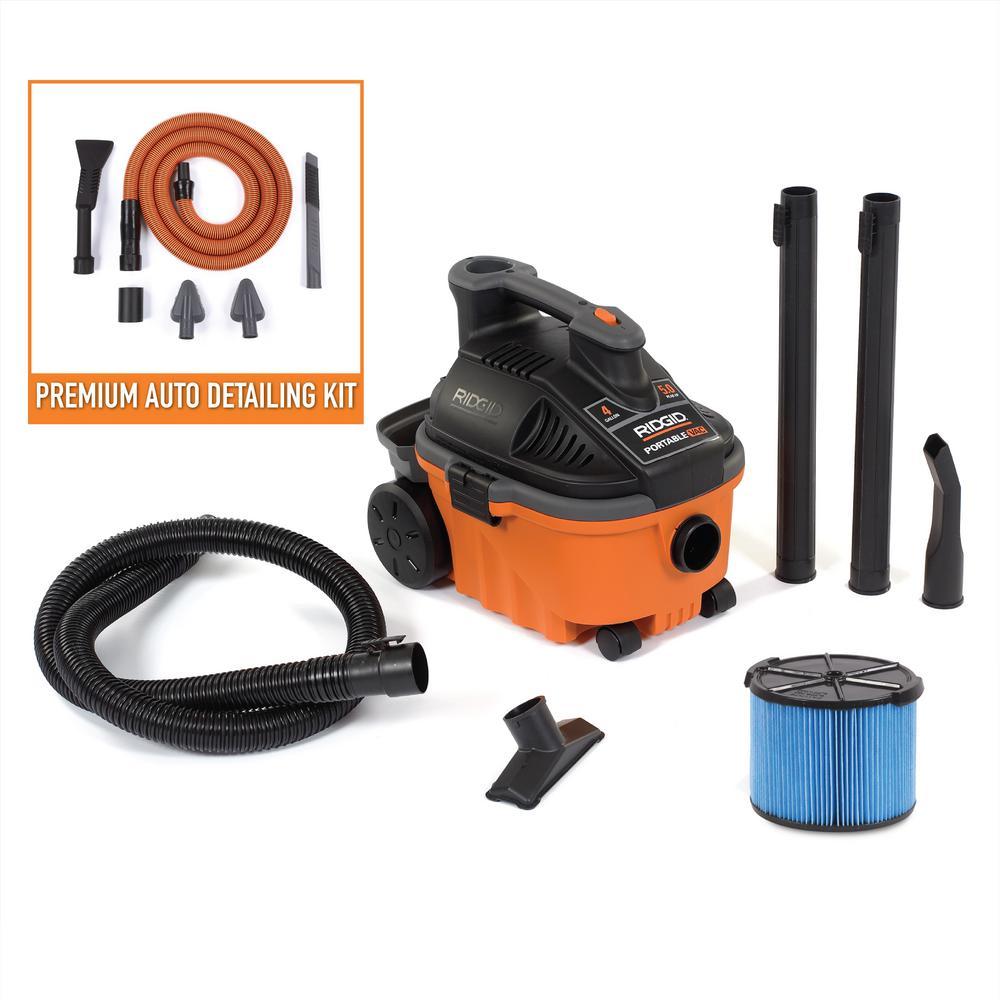 RIDGID WD4070C 4 Gal. 5.0-Peak HP Portable Wet/Dry Vacuum Deals
