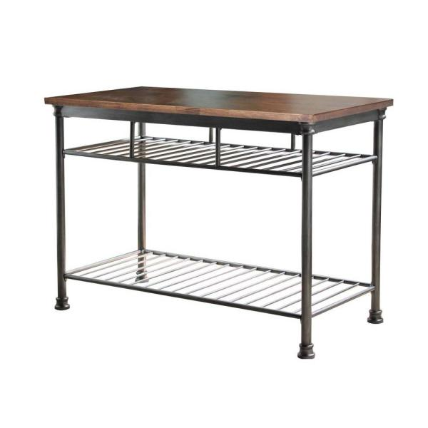 Home Styles The Orleans Vintage Carmel Kitchen Utility Table 5061 94 Depot