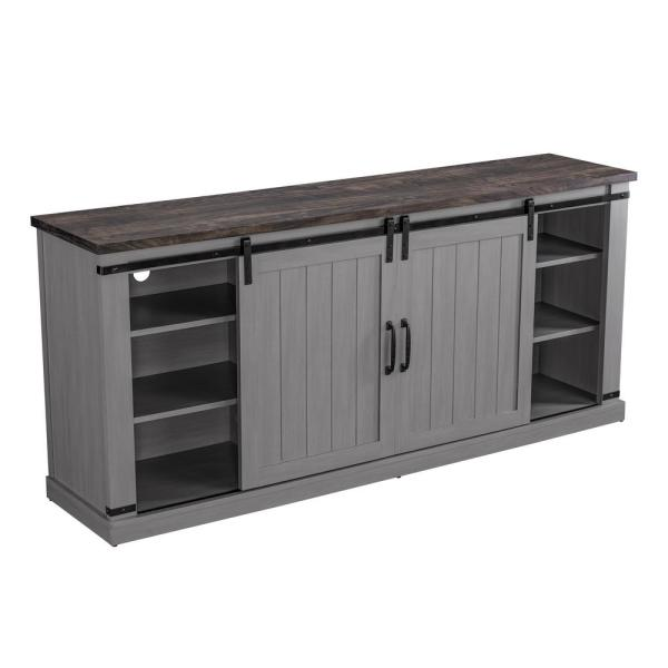 68 in. Gray TV Stand for TVs up to 70 in.