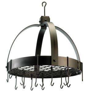 Old Dutch 20 inch x 15.25 inch x 21 inch Dome Oiled Bronze Pot Rack with Grid and 16 Hooks by Old Dutch
