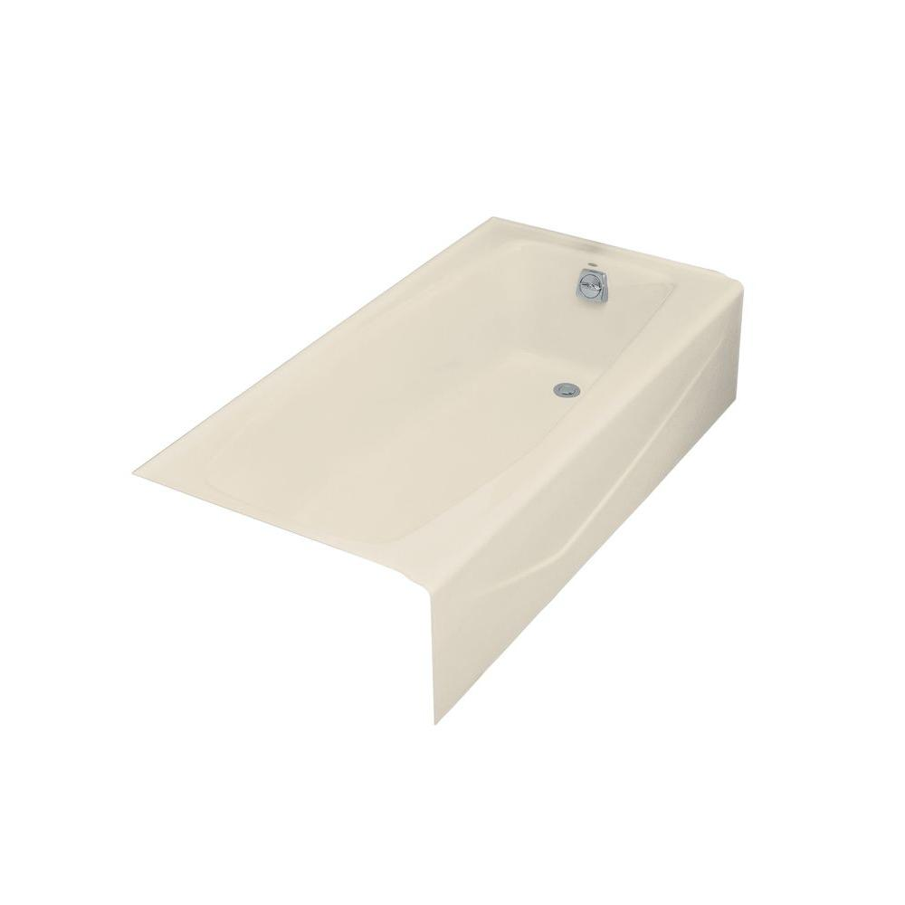 Kohler Villager 5 Ft Right Hand Drain Cast Iron Bathtub In Almond