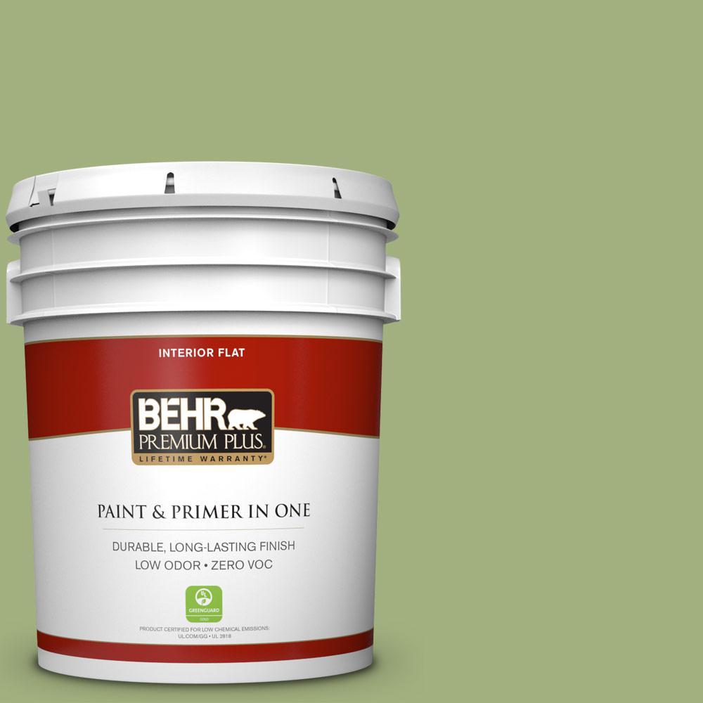 BEHR Premium Plus 5-gal. #M360-5 Fresh Guacamole Flat Interior Paint