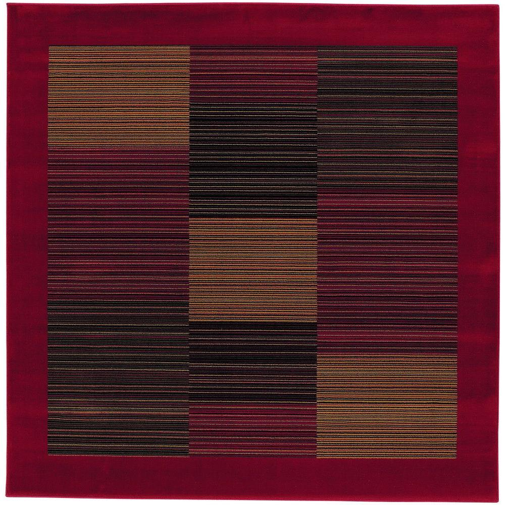 Couristan Everest Hampton's Red 5 ft. 3 in. x 5 ft. 3 in. Square Area Rug