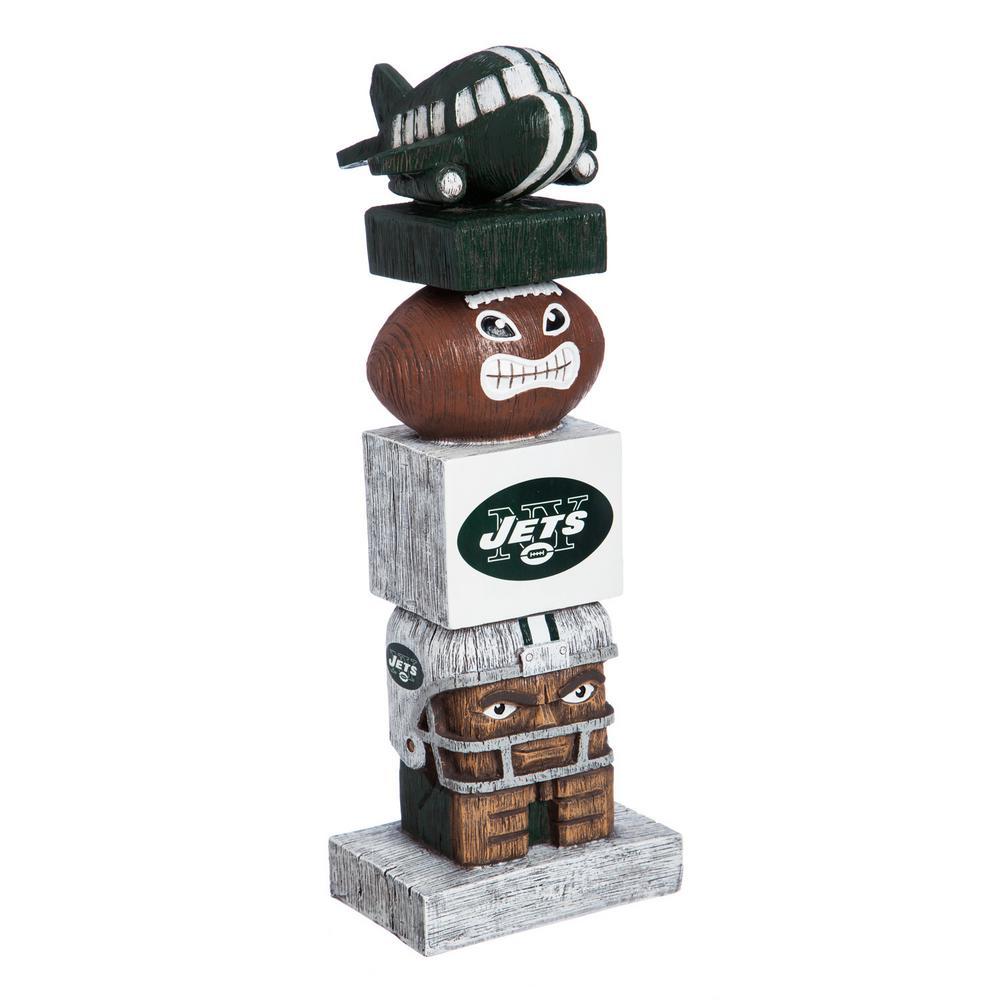 New York Jets Tiki Totem Garden Statue