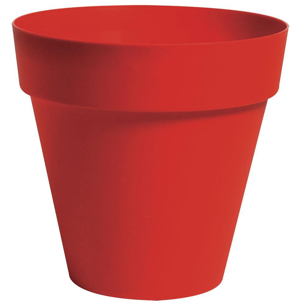 Rio 13.25 in. Dia Red Plastic Planter