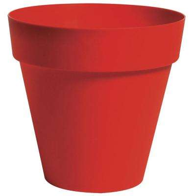 Rio 13.25 in. Dia Red Plastic Planter