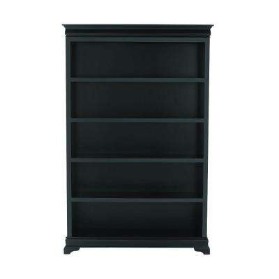 Louis Philippe Black Open Bookcase