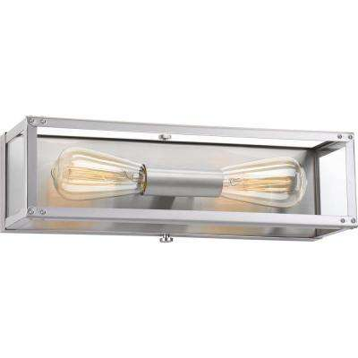 Union Square Collection 2-Light Stainless Steel Bath Light