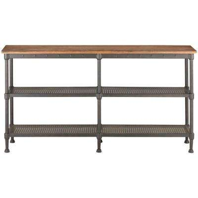 Gentry Distressed Oak Console Table