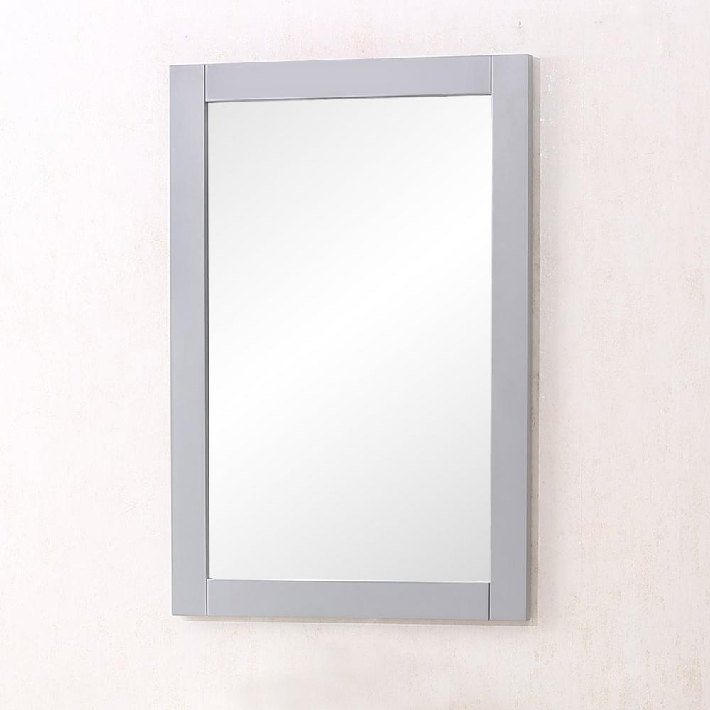 Medium Rectangle Medium Grey Contemporary Mirror (32 in. H x 22 in. W)