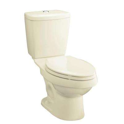 Karsten 2-Piece 0.8/1.6 GPF Dual Flush Elongated Toilet in Biscuit, Seat Not Included