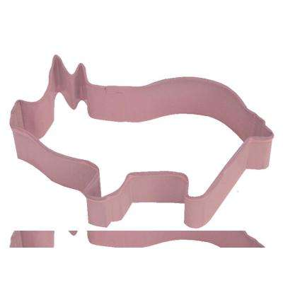 Pig 3.75 in. Pink Polyresin Cookie Cutter and Recipe (Lot of 12)