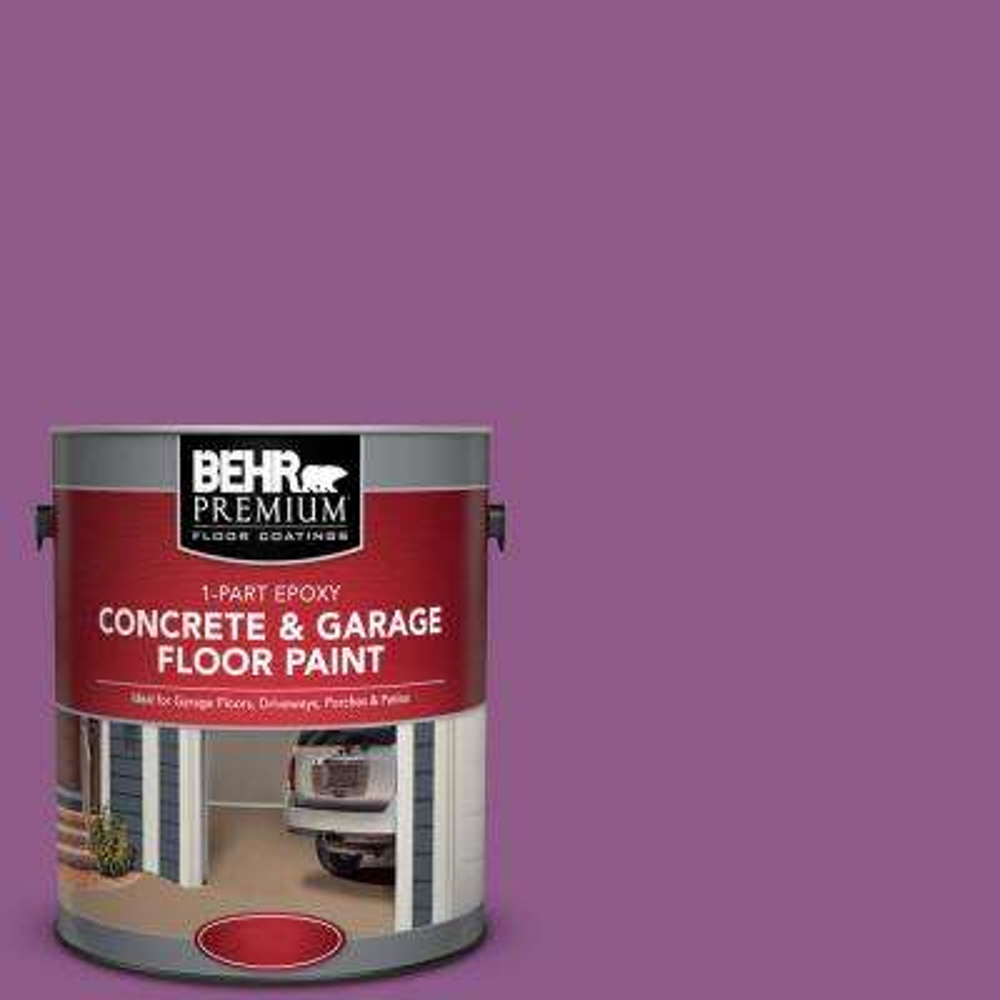 1 gal. #OSHA-4 OSHA Safety Purple 1-Part Epoxy Satin Interior/Exterior Concrete and Garage Floor Paint