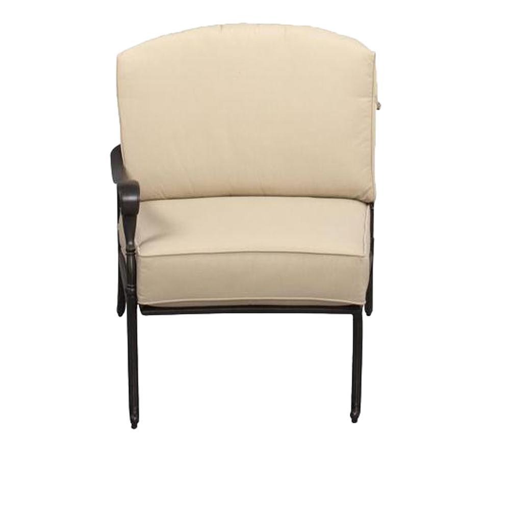 Hampton Bay Edington Left Arm Patio Sectional Chair With