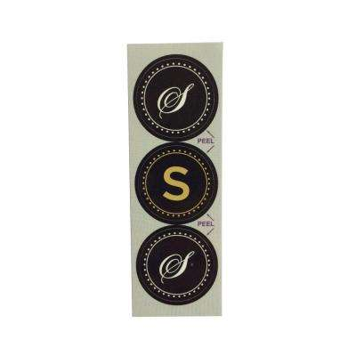 S Monogram Decorative Bathroom Sink Stopper Laminates (Set of 3)
