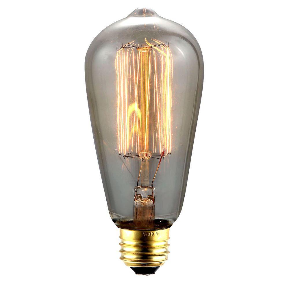elegant lighting 40 w incandescent e26 vintage edison light bulb e26 nos40 st18 th the home depot. Black Bedroom Furniture Sets. Home Design Ideas