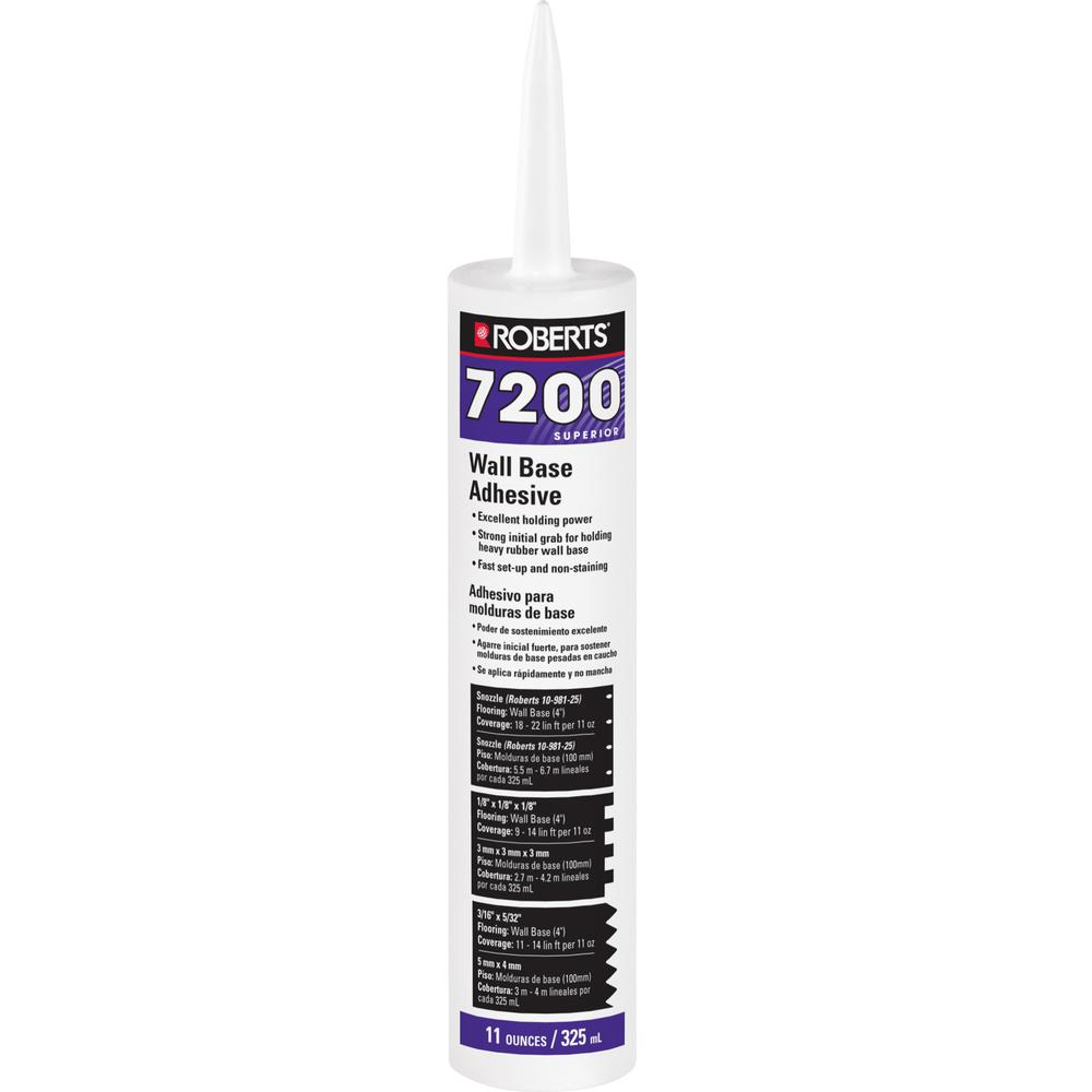 7200 11 fl. oz. Wall and Cove Base Adhesive in Cartridge