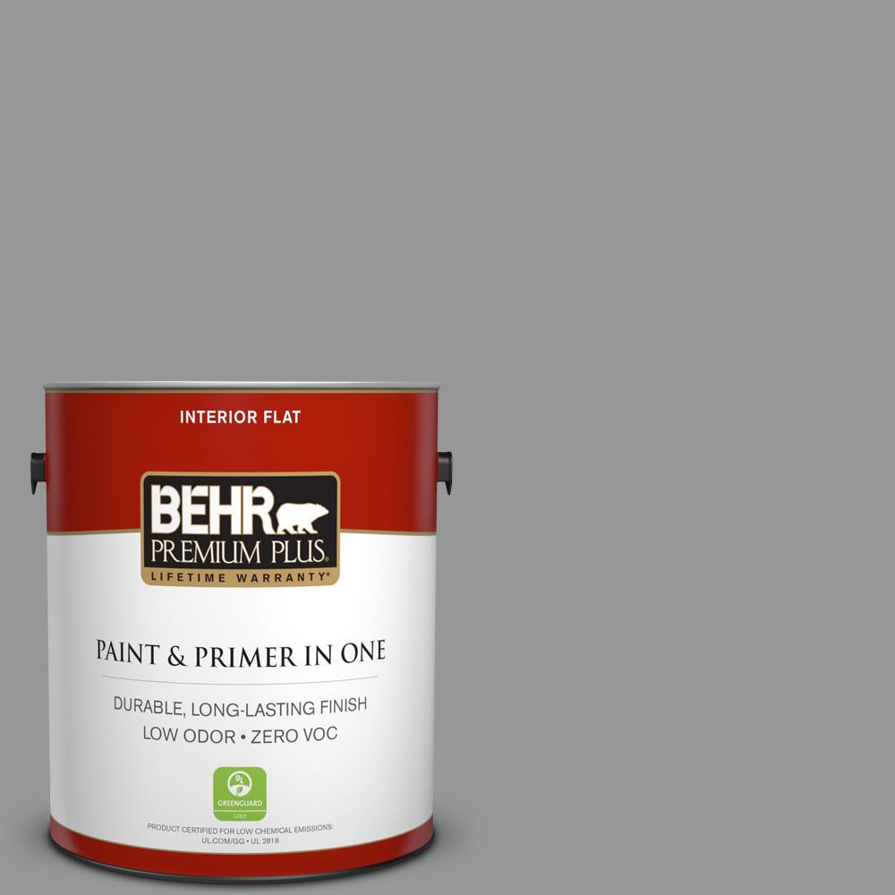 1 gal. #PPU24-19 Shark Fin Zero VOC Flat Interior Paint