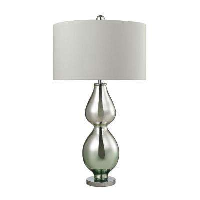 Double Gourd 31 in. Light Green Mercury Table Lamp