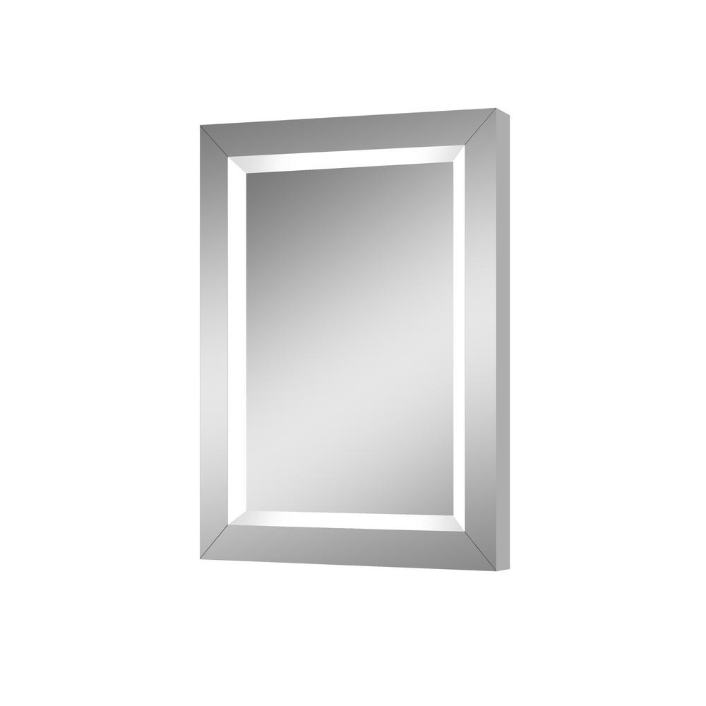 Rio 24 in. W x 32 in. H Lighted Impressions Frameless