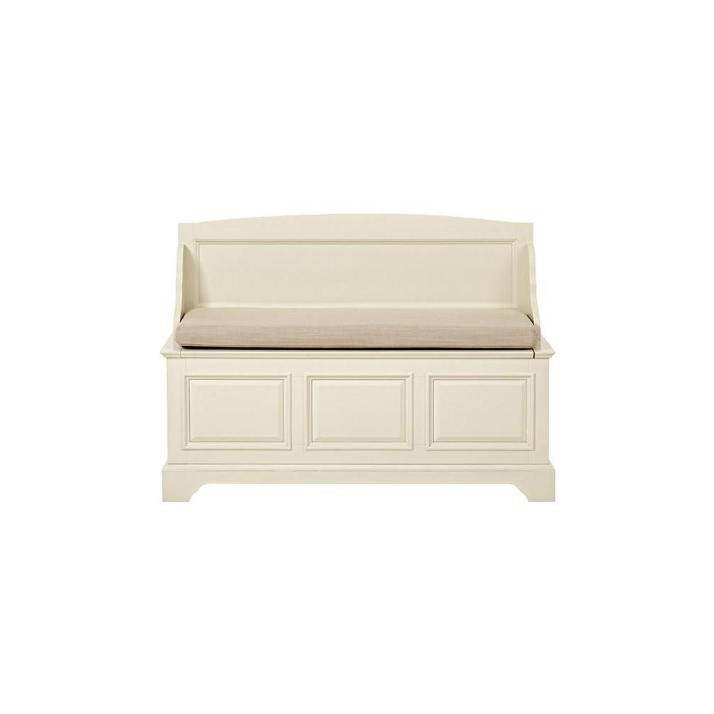 Home decorators collection sadie storage ivory bench for Home decorators bench