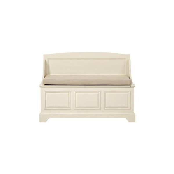 Home Decorators Collection Sadie Ivory Storage Bench with Back SK19081BR1-IV