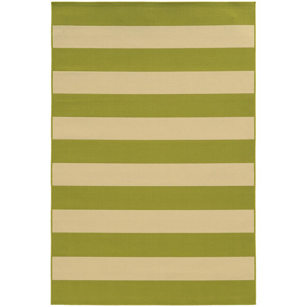 Home Decorators Collection Nantucket Lime 3 Ft 7 In X 5 Ft 6 In Indoor Outdoor Area Rug