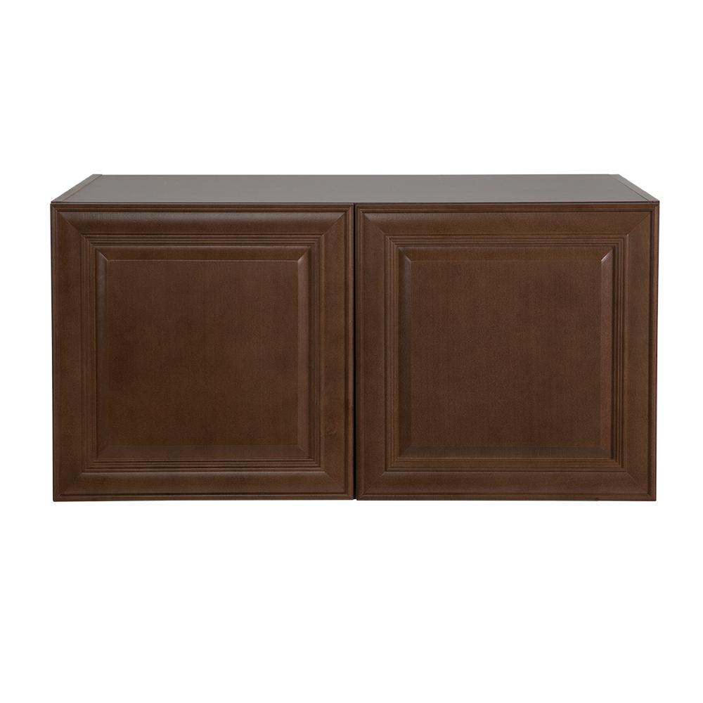 Hampton Bay Benton Embled 36x18x24 5 In Refrigerator Wall Cabinet Erscotch