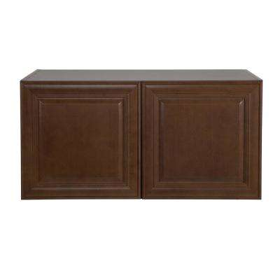 Benton Assembled 36x18x24.5 in. Refrigerator Wall Cabinet in Butterscotch