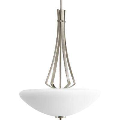 Rave Collection 3-Light Brushed Nickel Foyer Pendant