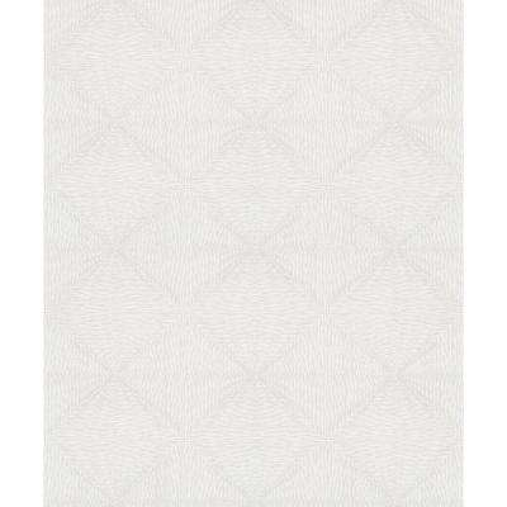8 in. x 10 in. Mayra Grey Diamond Wallpaper Sample