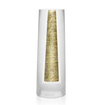 10.5 in. Gold Standard European Mouth Blown and Hand Decorated Vase