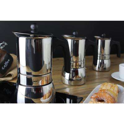 Genova 10-Cups Stainless Steel Espresso Coffee Maker