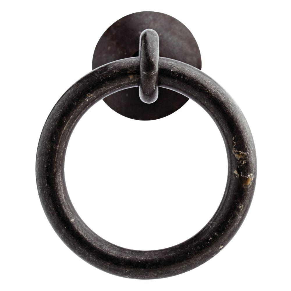 2 in. (51mm) Black Iron Ring Pull