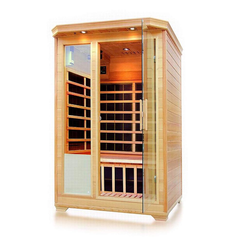 2-Person Canadian Hemlock Infrared Sauna