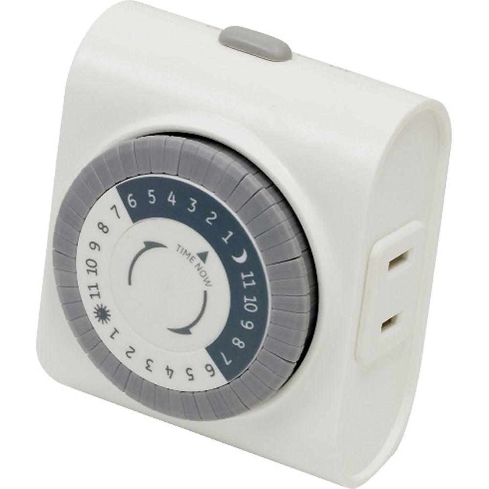 1875 Watt 15 Amp Resistive 24 Hour Indoor Plug In Timer, White