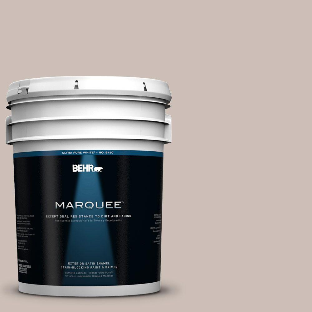 Behr marquee 5 gal 770a 3 french castle satin enamel exterior paint 945005 the home depot - Exterior satin wood paint property ...