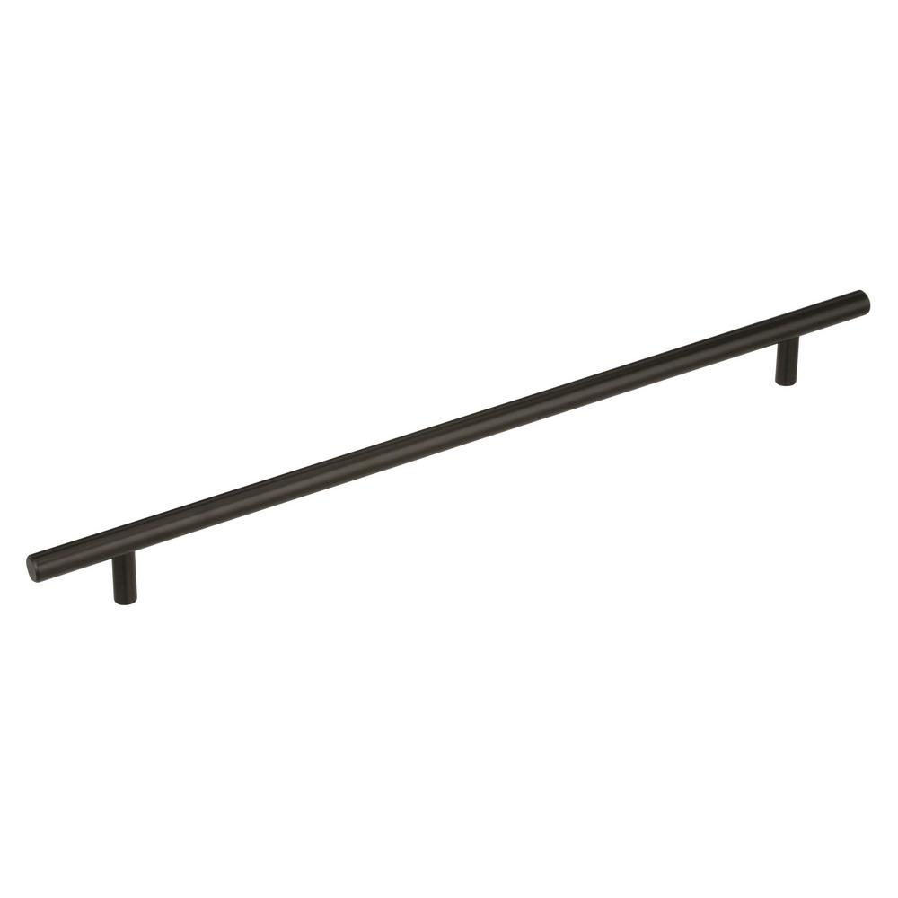 Amerock Bar Pulls 12-5/8 in. (320 mm) Center-to-Center Black Bronze Cabinet Drawer Pull