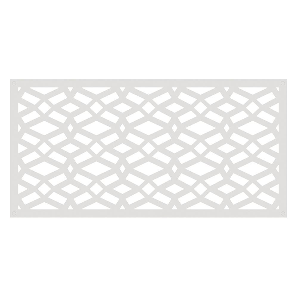 Celtic 4 ft. x 2 ft. White Polymer Decorative Screen Panel