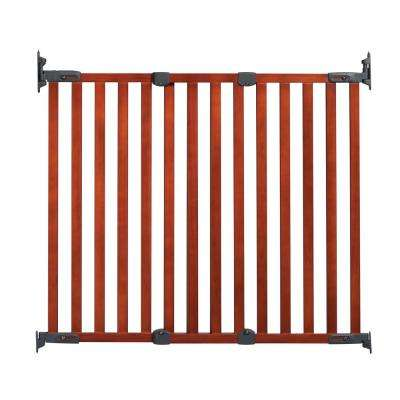 31 in. H Angle Mount Wood Safeway Wall Mounted Gate in Cherry
