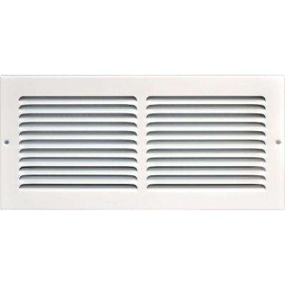 14 in. x 6 in. Return Air Vent Grille, White with Fixed Blades