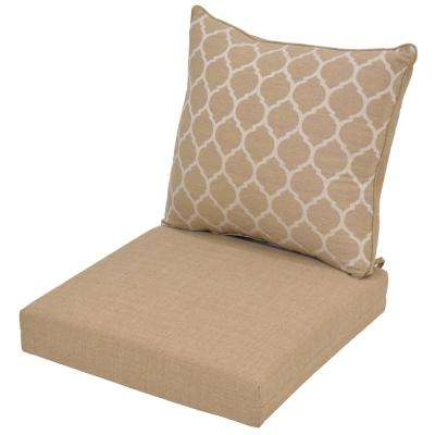 Toffee Ogee 2 Piece Deep Seating Outdoor Lounge Chair Cushion