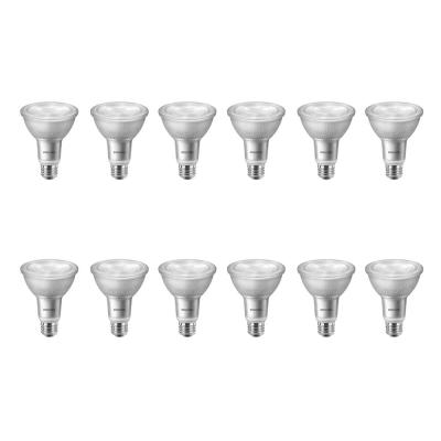 75-Watt Equivalent PAR30L Dimmable LED Flood Light Bulb with Warm Glow Dimming Effect Bright White (3000K) (12-Pack)