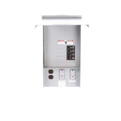 Temporary Power Outlet Panel with Two 20 Amp Duplex Receptacles and One 20 Amp 240-Volt Receptacle Unmetered