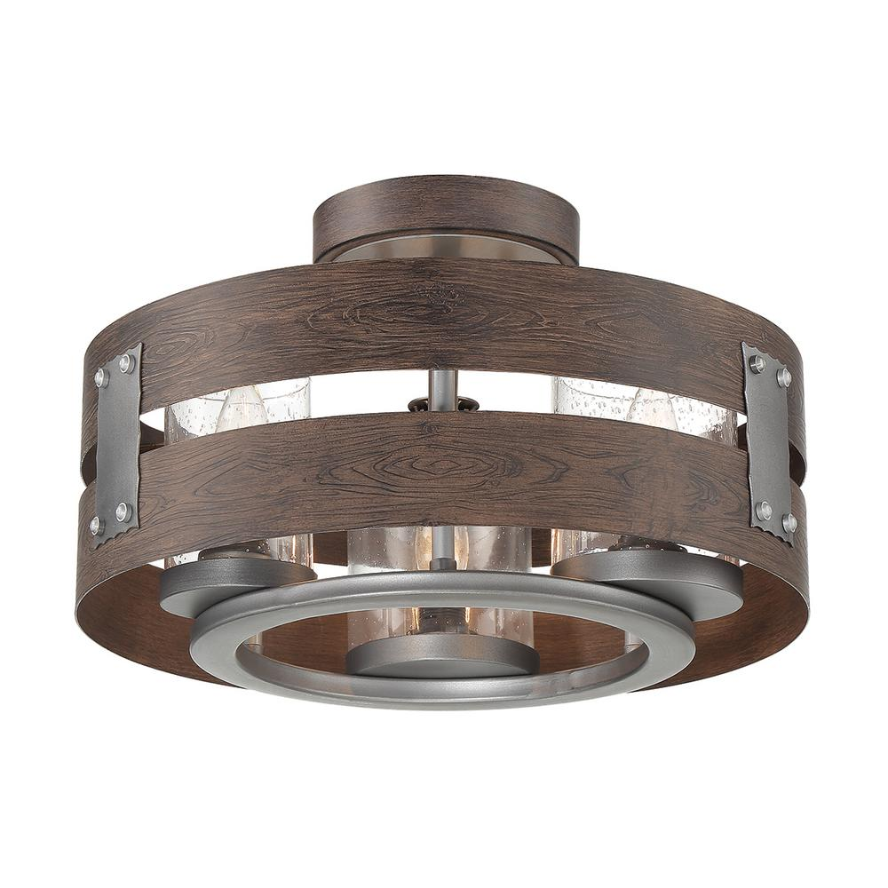 Eurofase 3 Light Expresso Clear Glass Semi Flush Mount And Pendant 32696 Hbud The Home Depot