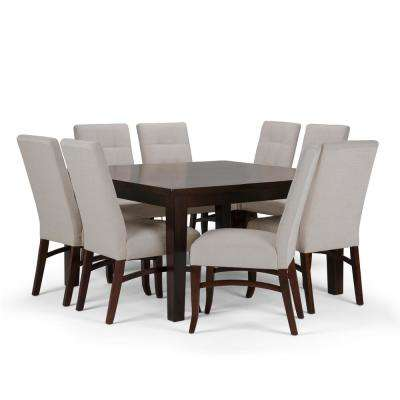 Ezra 9-Piece Platinum Dining Set