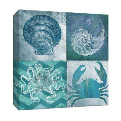 15 in. x 15 in. ''Nautical Quad I'' By Canvas Wall Art