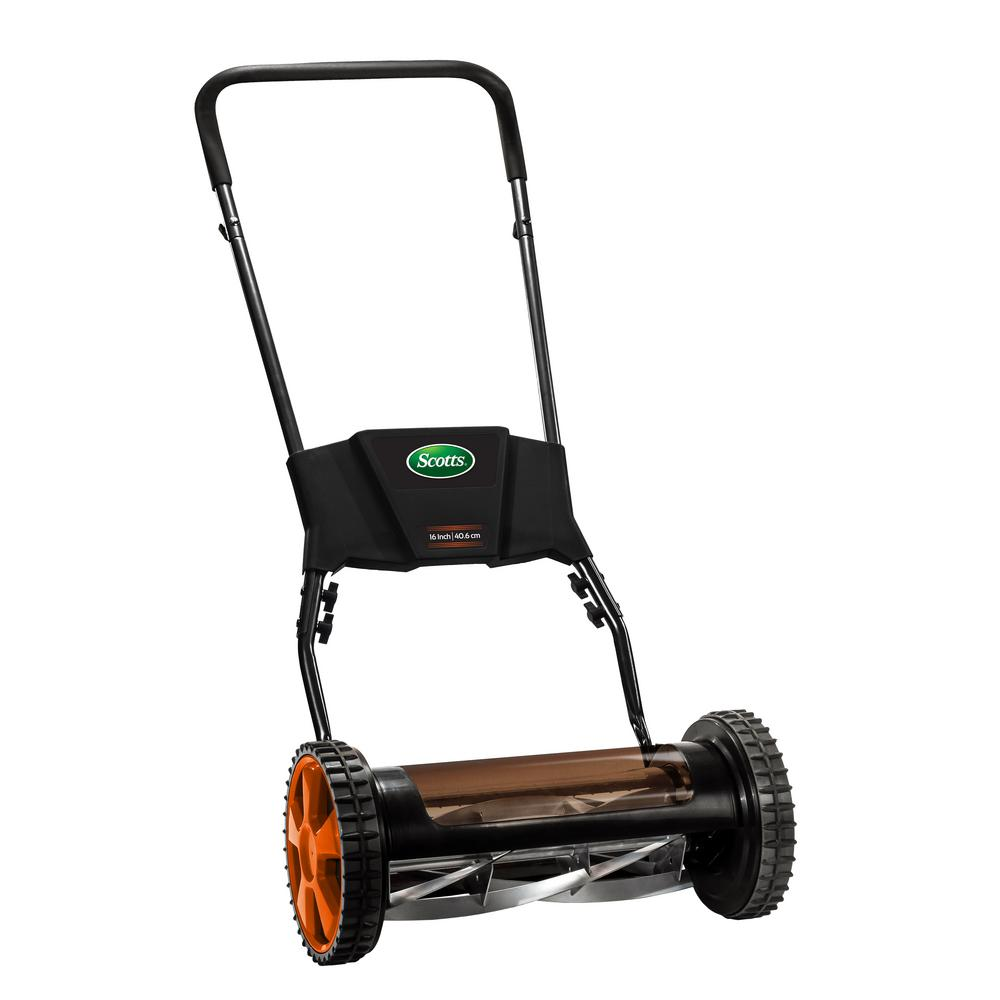 "Scotts 16 "" 5-Blade Manual Premium Push Walk Behind Reel Lawn Mower"