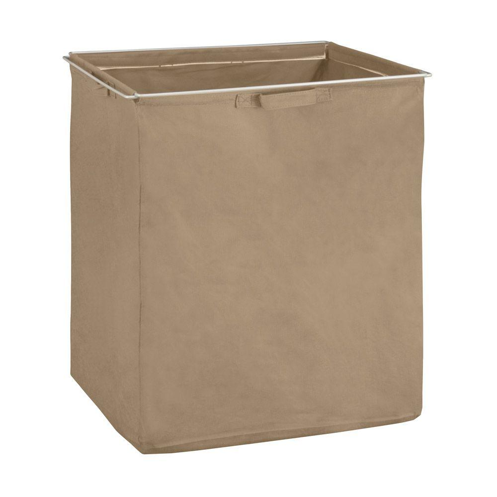ClosetMaid ShelfTrack Mocha Fabric Hamper with Frame-38114 - The ...